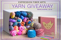 Expression Fiber Arts Luxury Yarn Giveaway. Enter now!