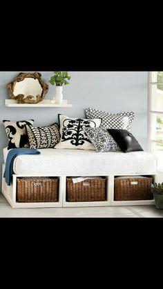Love repurposing crib mattress