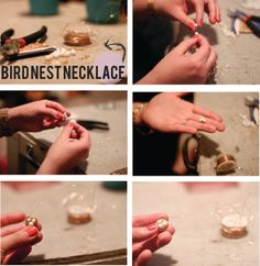 A Bright Lineup: Bird Nest Necklace