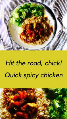 Hit the road, chick! Original Recipe, Chana Masala, Spicy, Chicken, Ethnic Recipes, Food, Essen, Meals, Yemek