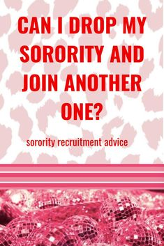 Yes and No…If you drop BEFORE you are initiated, you can go through sorority recruitment again. If you drop after you are initiated, you cannot join another Panhellenic sorority. Click the image to read more. Sorority Recruitment Tips, Sorority Rush Week, Sorority Recruitment Outfits, Sorority Life, Meeting New People, I Can, Join, Advice