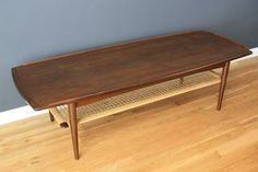 Selig Danish coffee table by Poul Jensen; gorgeous caning