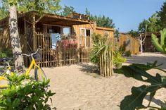 super kindvriendelijk camping vakantiepark niet schreeuwerig. zuid frankrijk. Canardière cabine 6 pers.  premie