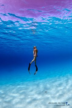 Malta based freediver and Yoga instructor Lyndsay Bilodeau freediving in Dahab, Egypt..