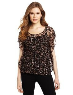 Star Vixen Women's Flutter Sleeve Lace Print Top Star Vixen. $40.00. Feminine lace. Easy fit. 90% Polyester/10% Spandex. Hand Wash. Made in USA