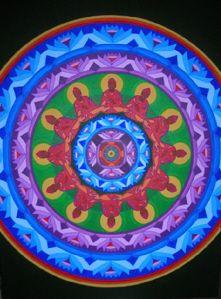 Acrylic mandala
