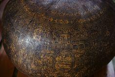 A carved gourd from Quito, Ecuador