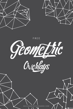 FREE Geometric Overlays - Designs By Miss Mandee. Give your design or photo a sleek, cool, and modern feel with these free geometric overlays. Four linear line and dot motifs.