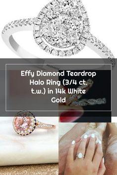 Diamond Teardrop Halo Ring (3/4 ct. t.w.) in 14k White Gold - Gold Gold Gold, White Gold, Wedding Rings Teardrop, Halo Rings, Engagement Rings, Crystals, Diamond, Jewelry, Enagement Rings