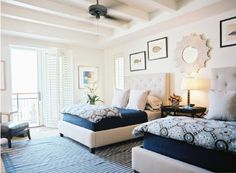 TWIN BEDS, ALL GROWN UP - BluLabel Bungalow   Interior Design Advice and Inspiration