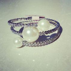 Elegant Pearl bracelet - fashion jewellery montreal #cellucci jewellery