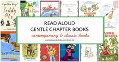 List of non-scary, gentle chapter books suited to reading aloud to kids of all ages. Reading Aloud, Reading Help, Read Aloud Books, Kids Reading, Good Books, Reading Activities, Reading Lists, Kids Chapter Books, Books For Boys