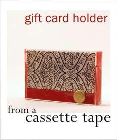 Easy cassette tape gift card holder