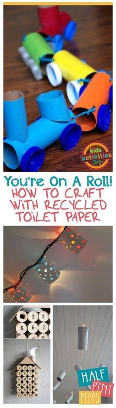 You're On A Roll! How to Craft With Recycled Toilet Paper Rolls. Toilet Paper Roll Craft Projects, Thing to Do With Toilet Paper Rolls, Craft Projects, Easy Craft Projects, Fast Crafts, Recycled Craft Projects, Recycling and Repurposing