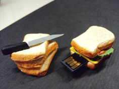 USB Drive in 4Gb Polymer Clay Sandwich by SmallIdea on Etsy, $37.97