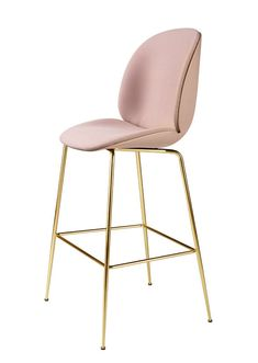 GUBI // Beetle Bar Chair, front upholstered, by GamFratesi
