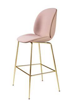GUBI // Beetle Bar Chair, front upholstered, by GamFratesi