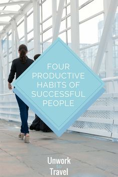 Four Productive Habits of Successful People. Morning routine, journal, meditation, make money online, make money while traveling, lifestyle business, lifestyle entrepreneur, digital nomad, self fulfillment, travel couple. Design and live the life of your dreams.