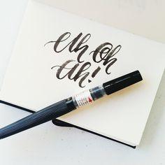 Uh oh ah #calligrafikas #brushpen