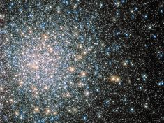 Hubble's Cosmic Fairy Lights.  This sparkling jumble is Messier 5 — a globular cluster consisting of hundreds of thousands of stars. It is about 13.8billion years old and only 24.500 light years away. Credit: ESA/NASA..