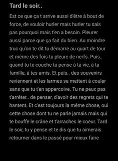 Hard Quotes, Life Quotes, Sad Texts, Image Citation, Mental Breakdown, French Quotes, Bad Mood, Karma, Couple