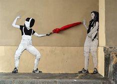 Découverte du street artiste français Lavalet