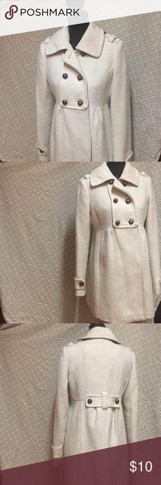 Adorable white American Rag jacket. Small staining, hence unbeatable price! American Rag Jackets & Coats Pea Coats