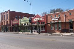 Historical downtown Buda, Texas... antiques, dining