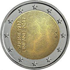 Centenario Independencia de Finlandia – 2€ cc 2017 Piece Euro, Euro Coins, Gold Money, Commemorative Coins, World Coins, Money Matters, Coin Collecting, Tove Jansson, Art Pieces