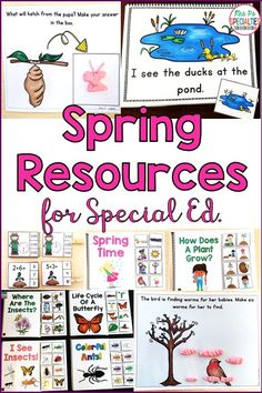 All of your spring lessons are covered! Mrs. P's Specialties has everything you need to teach reading, reading comprehension, math skills, build language and more during the spring month. These hands on, engaging activities will keep your students on task and learning. These resources are perfect for special education teachers, work task bins, language groups, speech therapists, math centers, students with autism and early learners.