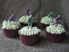 Toy Soldier Cupcakes by pollyd (Paula), via Flickr