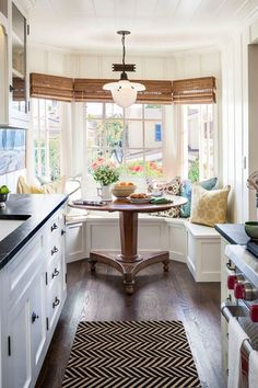 round table in breakfast nook kitchen - Google Search