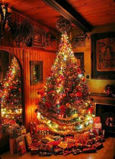 Christmas Decor Ideas - Happy Christmas - Noel 2020 ideas-Happy New Year-Christmas Christmas Scenes, Christmas Mood, Noel Christmas, Country Christmas, Christmas Lights, Xmas, Christmas Tree Colored Lights, Cottage Christmas, Decorations Christmas