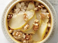 Chai Spice and Pear Oatmeal | Go beyond the usual brown sugar to create breakfast bowls worth rising and shining for.
