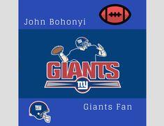 John Bohonyi loves football and the New York Giants and loves creating new fan art. Nfl Football Teams, New York Giants, Behance, Fan Art, Gallery, Check, Roof Rack