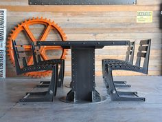 I Beam Dining Table – Vintage Industrial Furniture