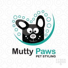 Logo Mutty Paws - Cute dog.[$211]
