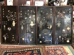 Lot 126 S92 - 4 Panel of Chinese w/ Stone - Est. $5000-7000 - Antique Reader