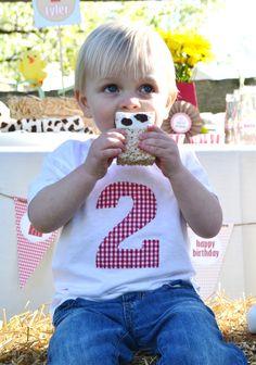 BARNYARD BASH Boys Farm Party Birthday Shirt Sizes 12m-4T. $15.95, via Etsy.