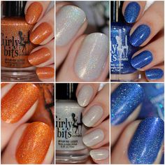 Beautiful swatches of the most recent Girly Bits Blogger Collaborations, on LacquerStyle. Available now, at www.girlybitscosmetics.com Let's Do This! Snafu Winter Sanctuary Click though for more pictures and a review. #Nailpolish #GirlyBits #indiePolish #Handmade #Holographic