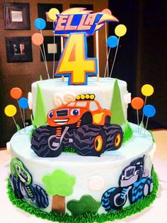 This Blaze and the Monster Machines cake is AMAZING!