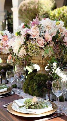 Enchanted garden floral arrangements