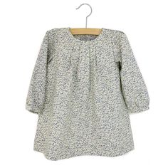 isla baby dress in cotton/wool flannel