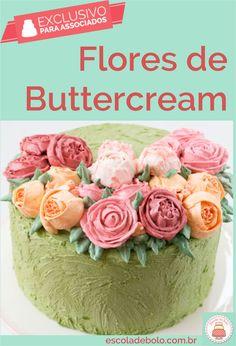 Flores para bolo passo a passo , feitas com bico de confeitar , ficam prontas em instantes