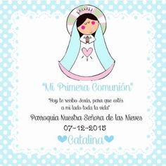 30 Estampitas Virgencita Porfis Baptism Favors, Ideas Para Fiestas, First Communion, Nativity, Diy And Crafts, Religion, Aurora Sleeping Beauty, Invitations, Birthday