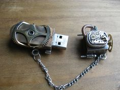 """steambeauvoir: """" Steampunk stick (by andrew chambers) Steampunk USB memory stick - I like the way it doesn't look like a USB drive from the outside :D """""""