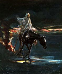 """Albert Chmielowski  The Death and conflagration, central part of the triptych """"Disaster"""" 1870"""