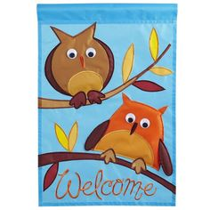 Pier 1 Fall Owls Garden Flag