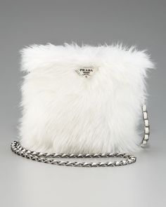 Pelliccia Faux Fur Satchel by Prada at Neiman Marcus. Prada Bag, Prada Handbags, Purses And Handbags, Prada Clutch, Fashion Bags, Fashion Accessories, Fur Bag, Fur Purse, Fru Fru