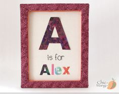 ABC wall art, Birthday Gift for girl, Letter Décor for Kids, Personalized Kids Wall Art, Nursery Wall Art, Framed Kids Name Art, Alex 11x14""